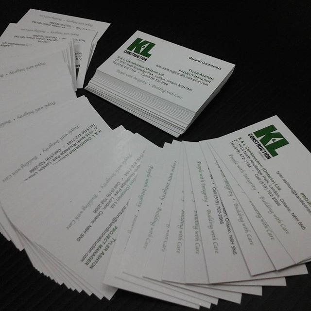 K&L Const. Cards