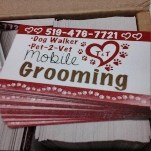 Grooming Cards