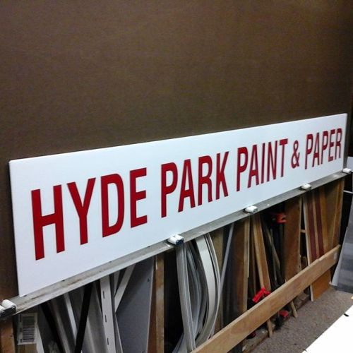 Hyde Park Paint, vinyl on coroplast