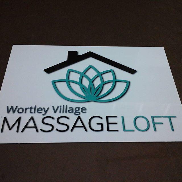 Massage Loft, digital print on alumapanel