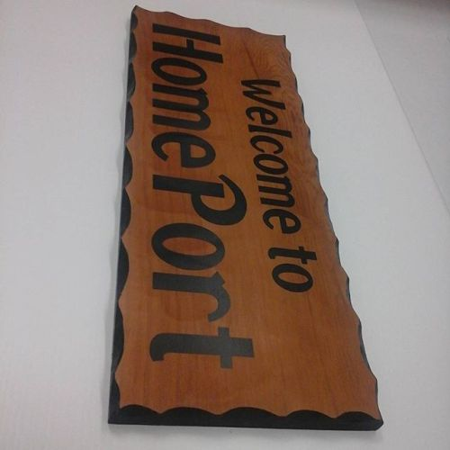 Wood sign with vinyl