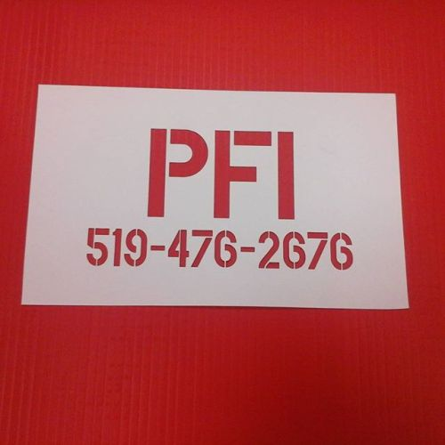 Pro-Fit Installations, styrene stencil