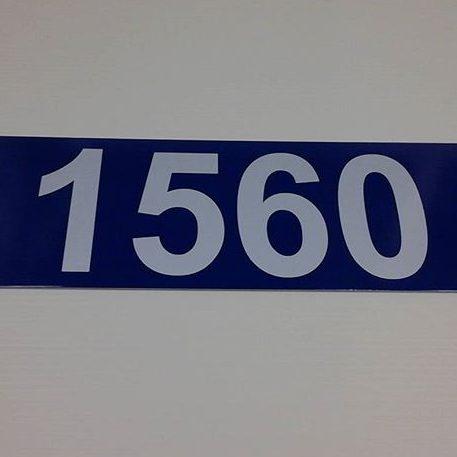 911 municipal address sign