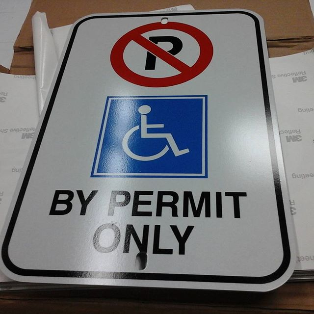 Reflective Handicap Parking Sign