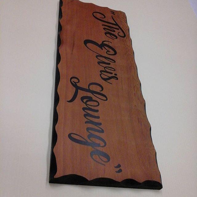 Wood sign