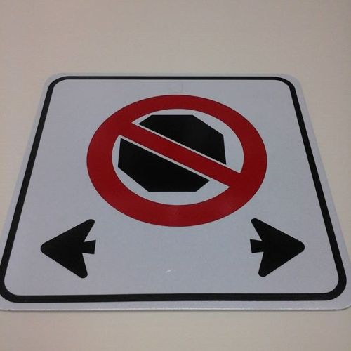No Stopping sign