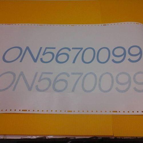 Boat lettering, vinyl