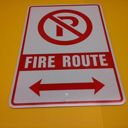 London fire route sign