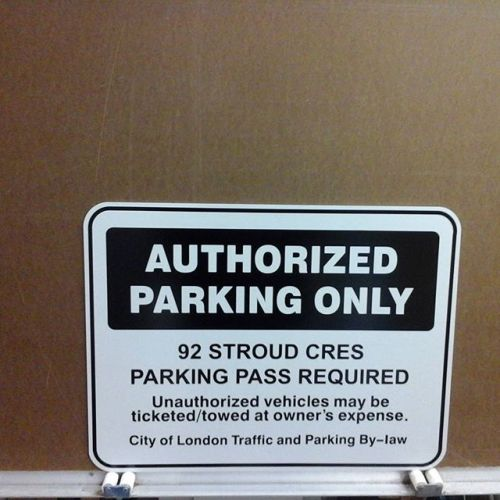 Reflective aluminum, Authorized Parking