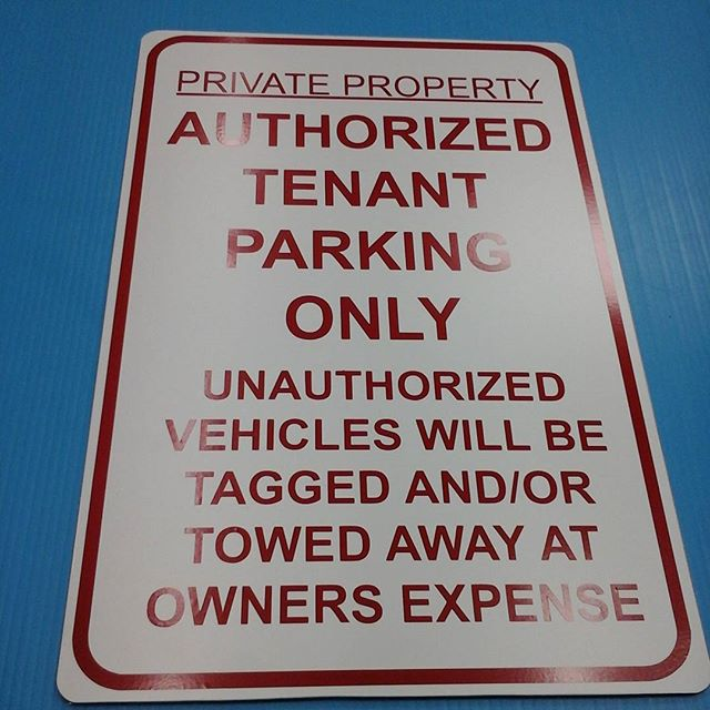 Authorized Parking sign