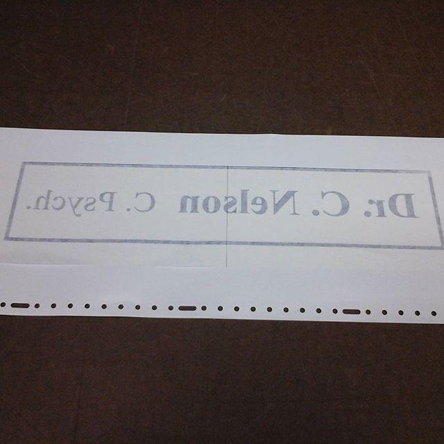 Reverse window lettering