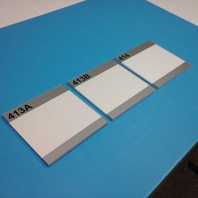 Room signs, non-glare plexi & pvc