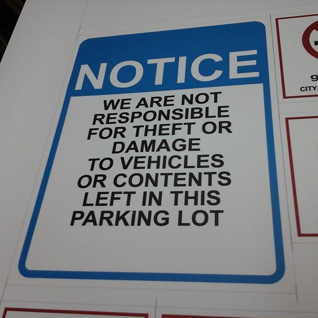 Parking Lot Notice
