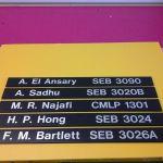 Directory sliders, vinyl on pvc