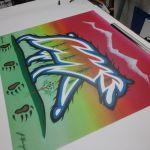 Native Art Print on Aluma