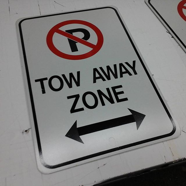 Tow Away Zone Signs