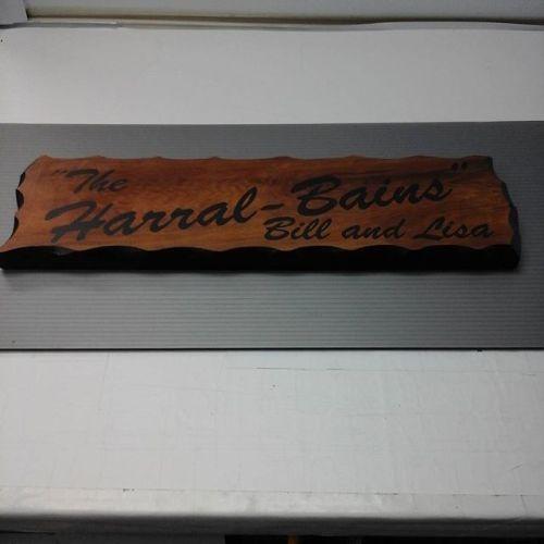 Wood sign / vinyl letters