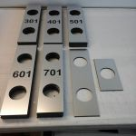 Lasered doorplates