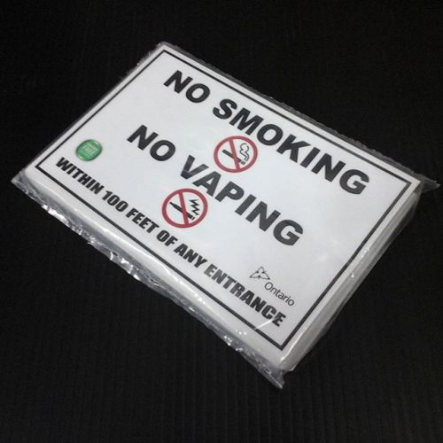 Custom No Smoking No Vaping