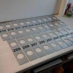 Lasered doorplates