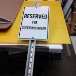 Aluminum Sign w/ 10' U-Channel
