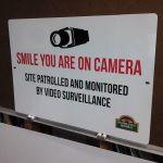 Aluminum Security Signs
