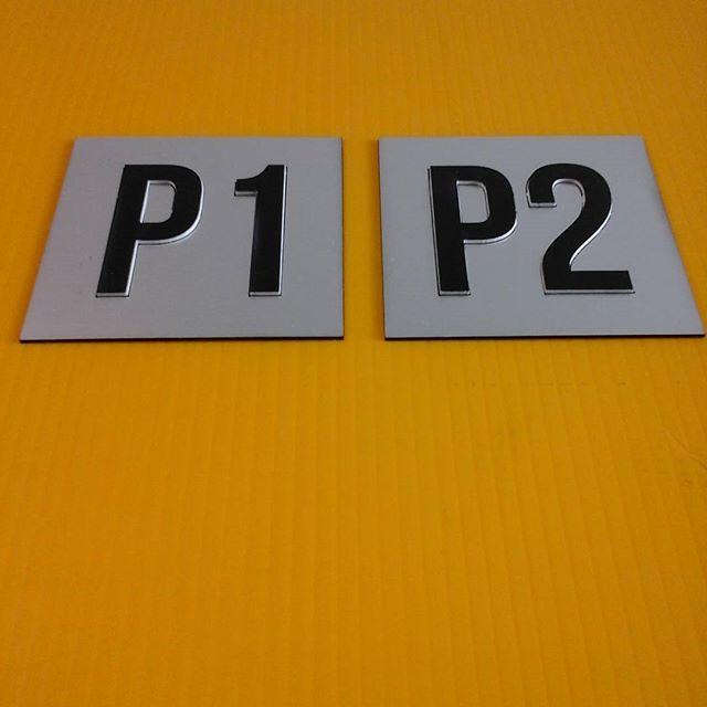 Laser door plates - raised lettering