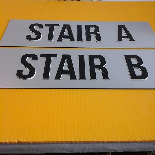 Laser door signs, raised letters