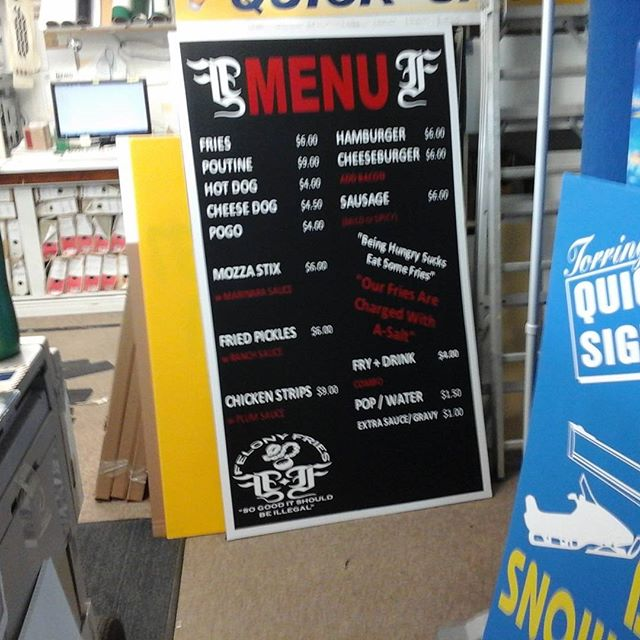 Fry Stand Sign