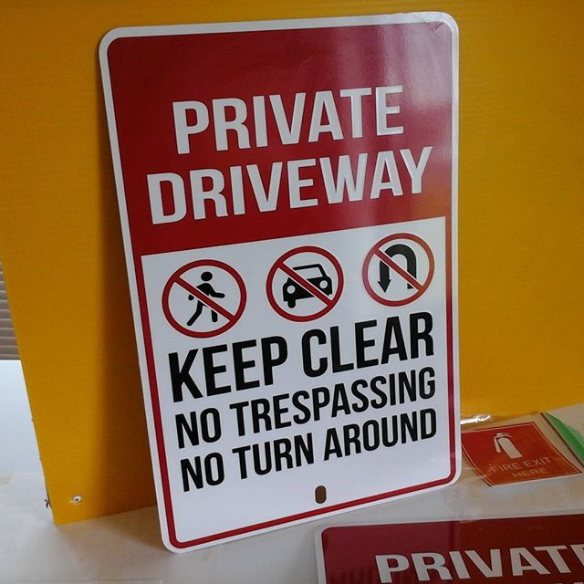 Private Driveway Sign
