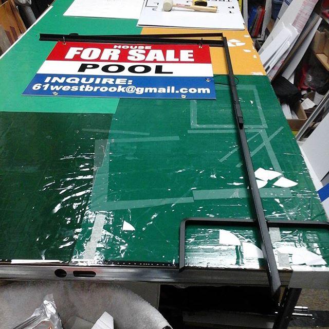 Hanging frame & For Sale sign