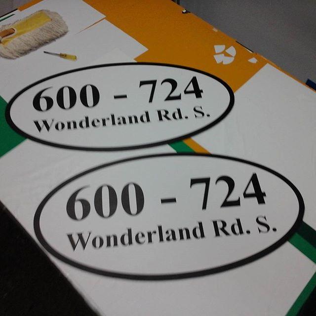 Condo Address Ovals
