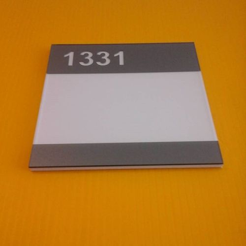 Room # sign- nonglare plexi/pvc/vinyl