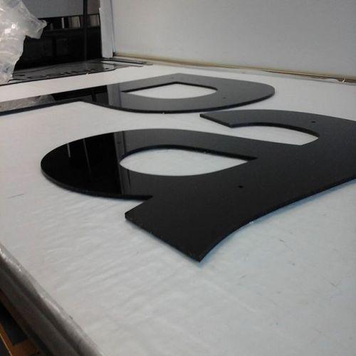 "3/16"" black acrylic"