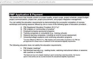 PMI REP Registered Education Provider