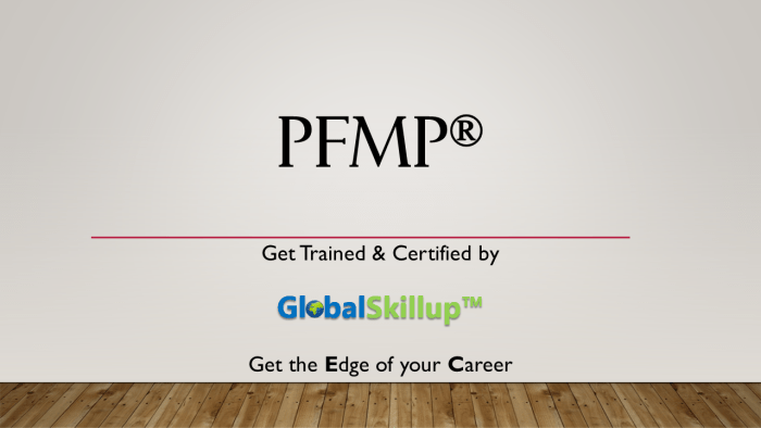 PFMP Training and Certification