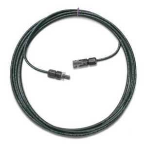 MC4 CONNECTORS WITH 15' SOLAR CABLE #10 COPPER WIRE AND XLPE TYPE INSULATION 1000 VDC RATED BY UL AND TUV