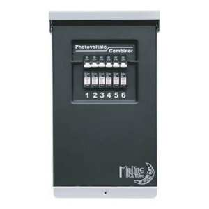 MIDNITE SOLAR PHOTOVOLTAIC COMBINER 6-POSITION MODEL# MNPV6 WITH 6 MNEPV15 15 AMP MIDNITE SOLAR CIRCUIT BREAKERS INSTALLED FOR YOU