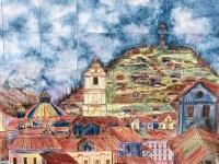 Tiled artwork outside Mercado Artesanal
