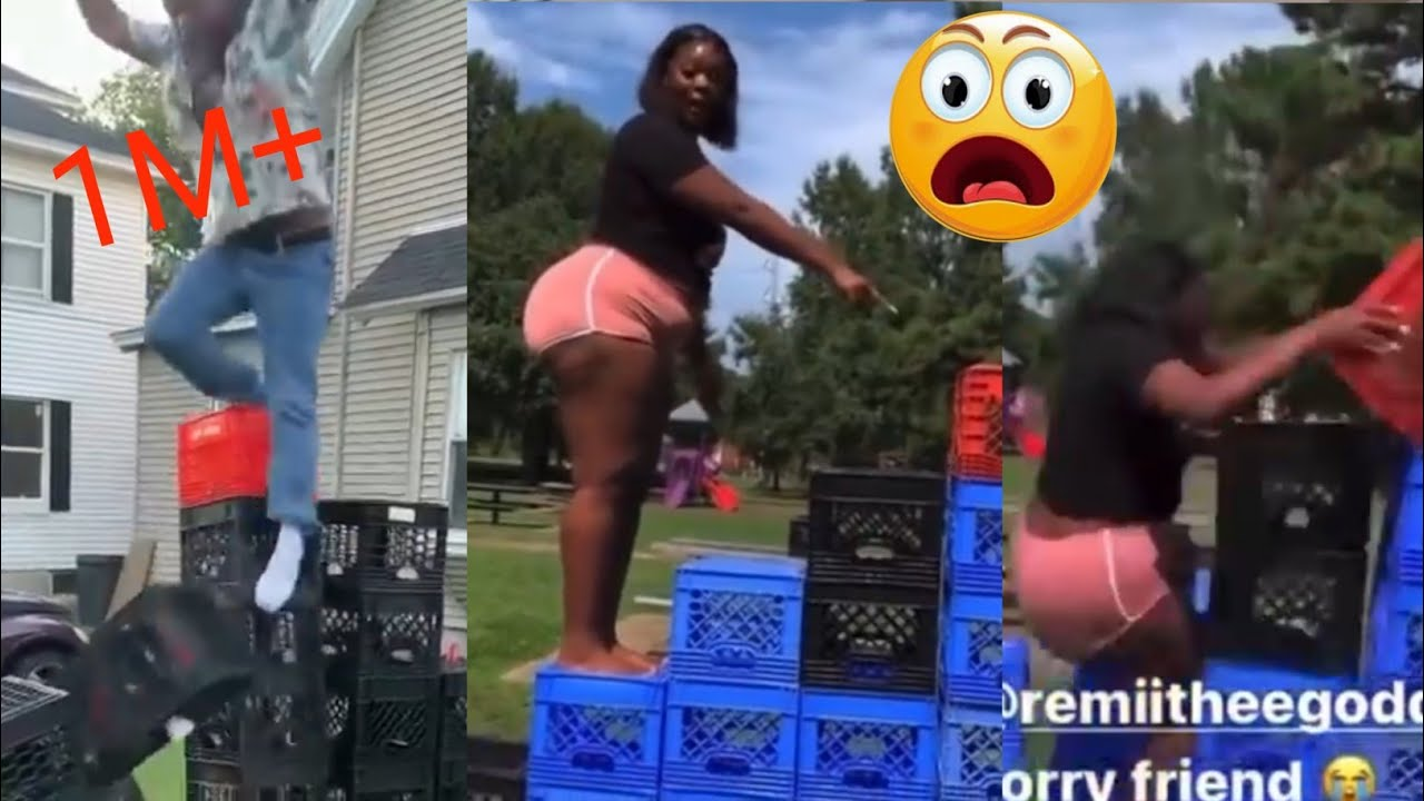 Crazy crate challenge worst😪 fail ever| compilation 😪
