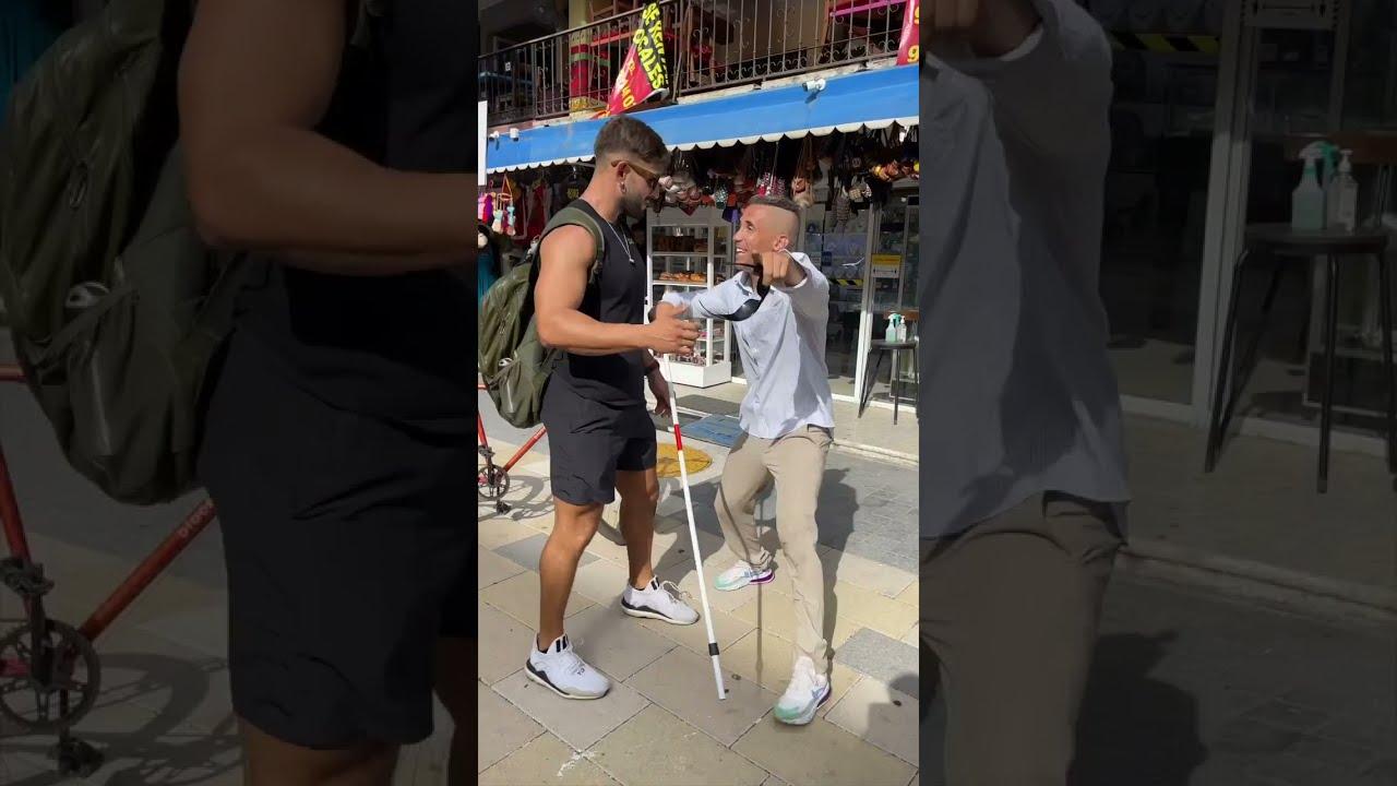 Fake blind man Prank!!🤣