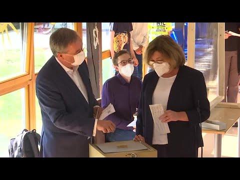 Germany's Armin Laschet show his 'secret' ballot