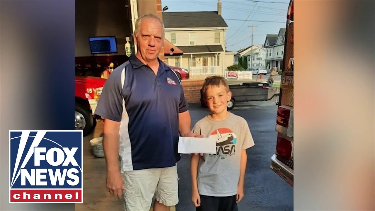 Nine-years-old raises money to help fire dept. Buy a new truck