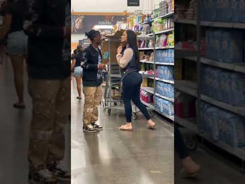 Walmart worker kisses me