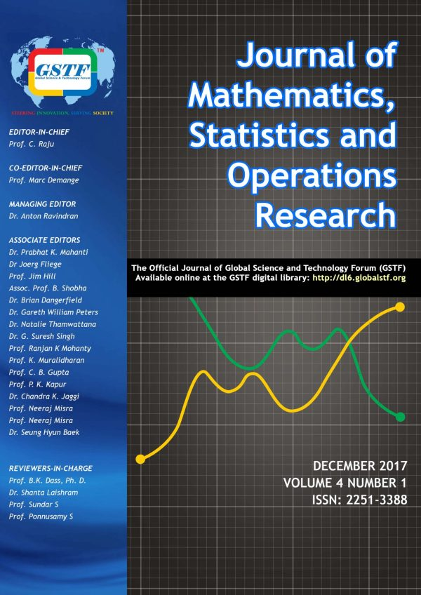Gstf Journal Of Mathematics Statistics And Operations