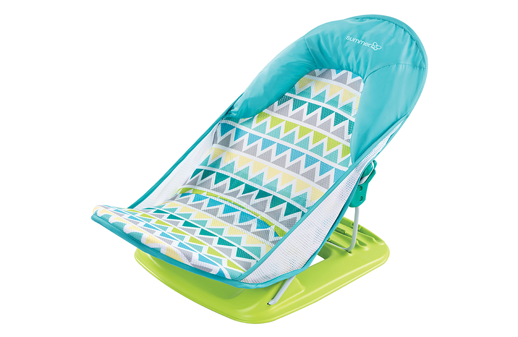 baby chair bath best chairs geneva glider instructions summer infant deluxe bather triangle stripe