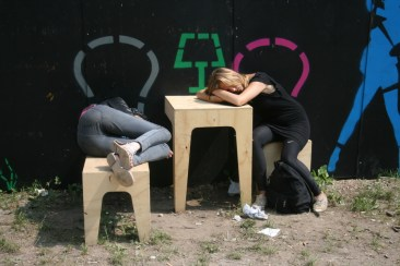 Resting on Wild Benches at Roskilde Festival
