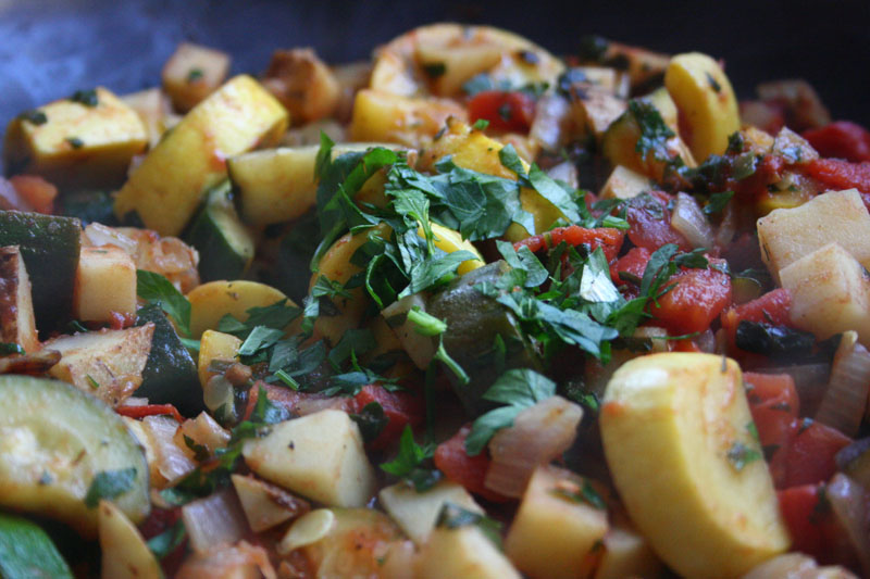 Turli Perimesh | Vegetables with Parsley