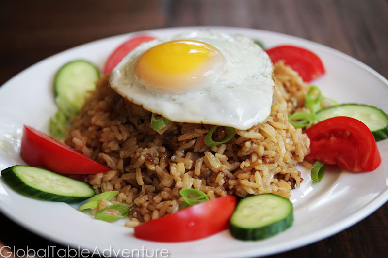 Indonesian Fried Rice with cow's eyes | Nasi Goreng