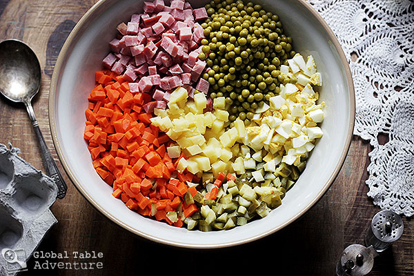 Russian potato salad olivier salad global table adventure mix forumfinder Image collections